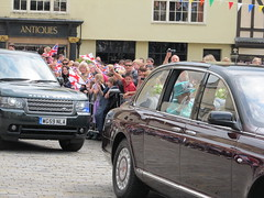 The Queen in Red Lion Square