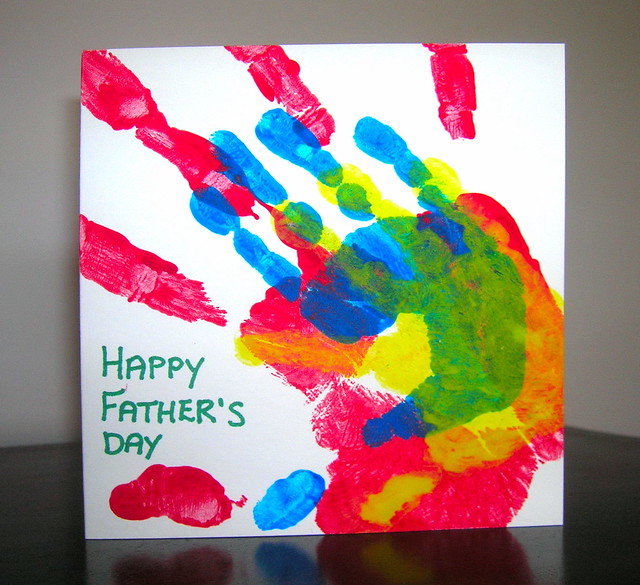 A hand-made Father's Day card