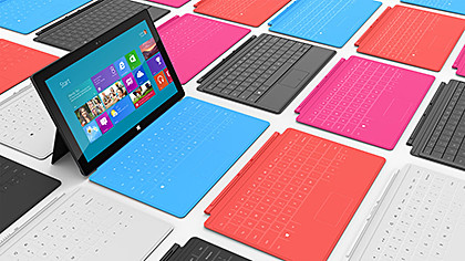 Microsoft finally joins the fray by unveiling its 10.6-inch Surface tablets.