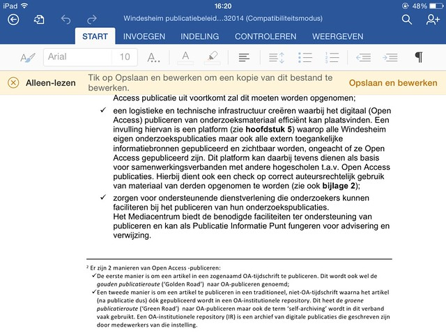 microsoft office voor ipad word