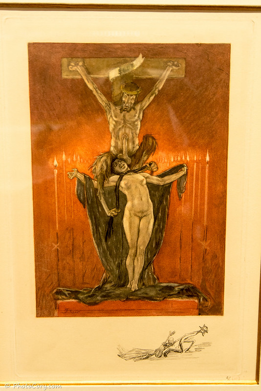 felicien rops drawing in Namur Museum