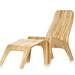 Stylish Bamboo Chair and Foot Rest-bútorlapok