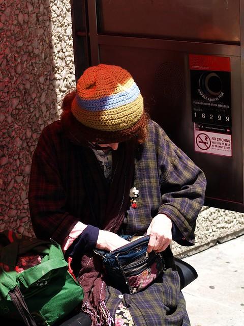 knit cap in sun