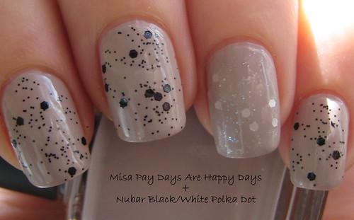 Misa Pay Days Are Happy Days & Nubar Black/White Polka Dot