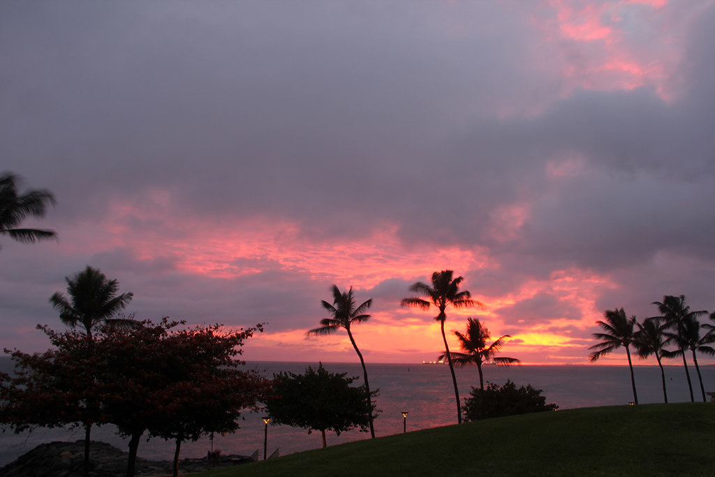 Sunset on Oahu Island