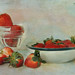 Still life with Strawberries for lunch by Nancy Violeta Velez