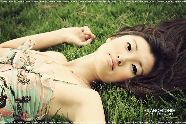 Lily on Grass by lancelonie photography