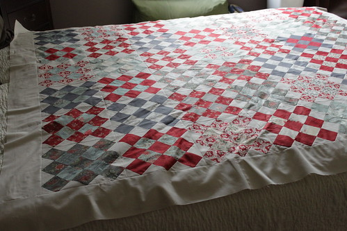 granny square etchings quilt top