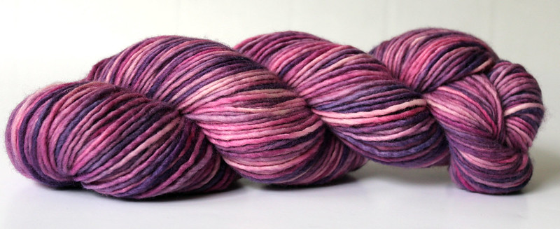 Kettle Dyed 1ply Merino Yarn ~ Pink/Purple