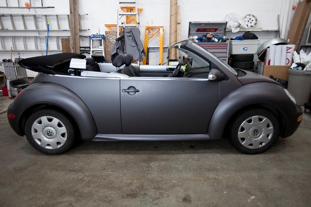 vw new beetle matte grey 3m a photo on flickriver. Black Bedroom Furniture Sets. Home Design Ideas