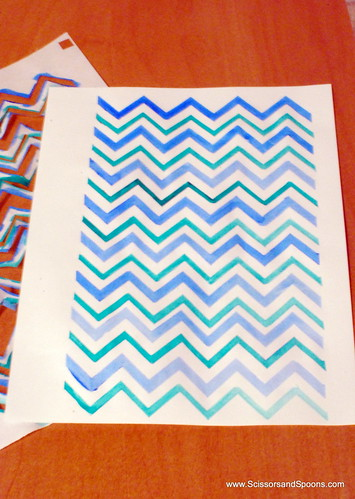 Watercolor Chevron Paper