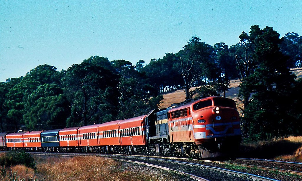 B80 & X41 Down Albury Passenger train by Rodney Gaulke