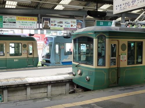 江ノ電501F+2003Fと、江ノ電22F@鎌倉