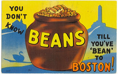 Boston baked beans postcard