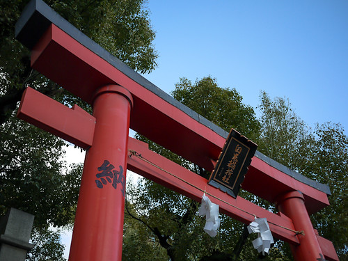 Torii of Hakumaiinari shrine by hyossie