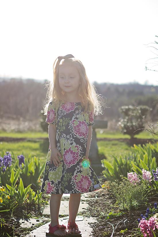 abi sunny in garden