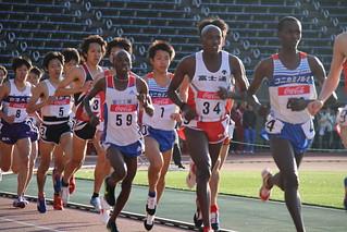 男子5000m3組序盤