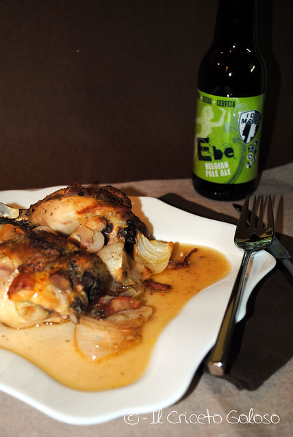 Pollo alla birra e cipolle 2