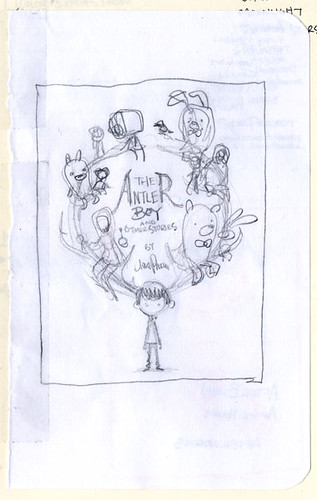 The Antler Boy Cover - First Sketch