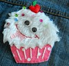 Happy Monster Cupcake by Klucking Bear