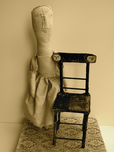 quietly - doll person & chair