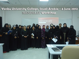 Advisor Kay Marlina presents Mendeley at Yanbu University College, Saudi Arabia