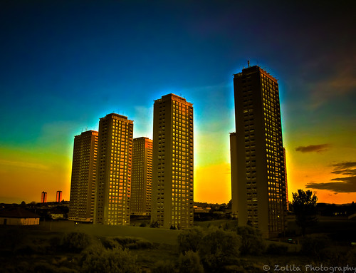 Tomorrow these Red Road flats get demolished, end of an era by xxx zos xxx & bump