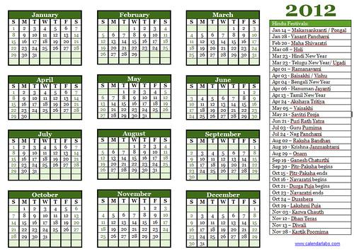 Hindu Festivals in- 2012 | Complete Hindu Calendar – 2012
