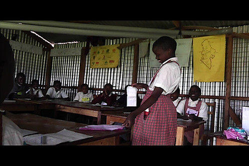 One volunteer from each Menstruation and Hygiene workshop was asked to perform a sanitary napkin demonstration
