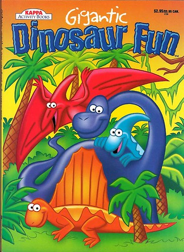 KAPPA ACTIVITY BOOKS :: 'Gigantic Dinosaur Fun'  i .. art by Brown (( 199x ))