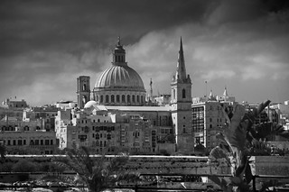 Forbidding skies over Malta