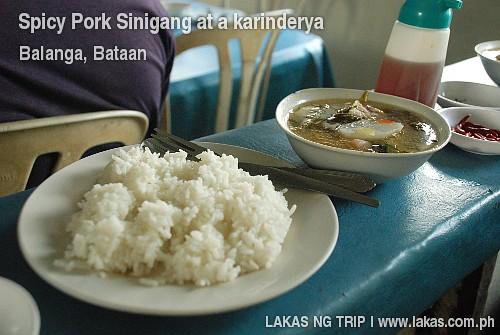 Spicy Pork Sinigang in a Karinderya at Balanga, Bataan