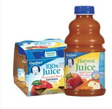 Gerber Juice, 32oz. Bottles Or 4oz. 4-pks Coupon