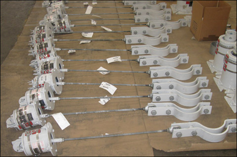 232 Variable Spring Supports for a Natural Gas Processing and Separation Plant