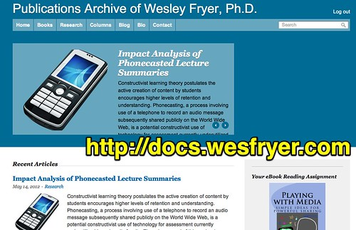 Publications Archive of Wesley Fryer, Ph.D.