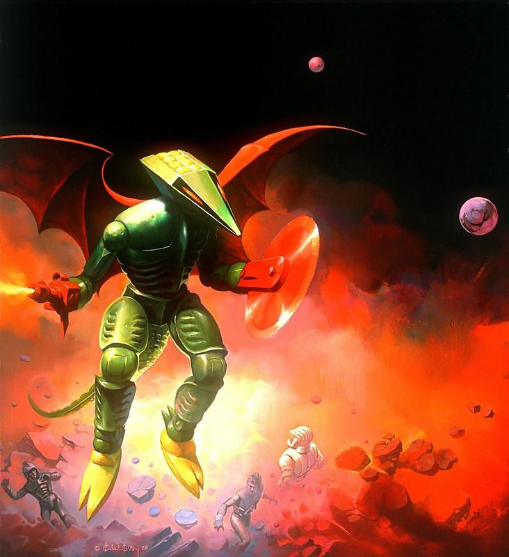 Ken Kelly - Repto, Micronauts Card Cover Art