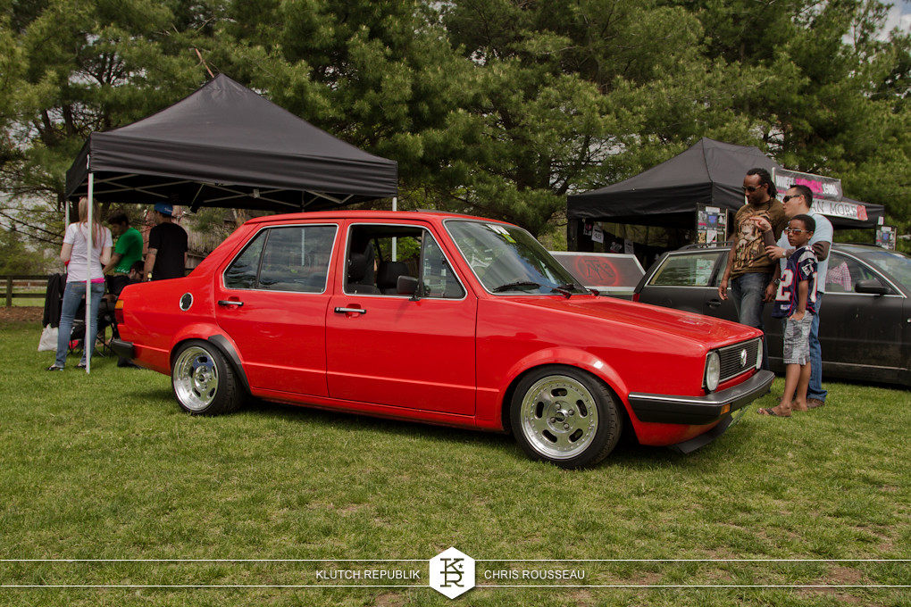 red mk1 4 door jetta low and fitted at staggered 2012
