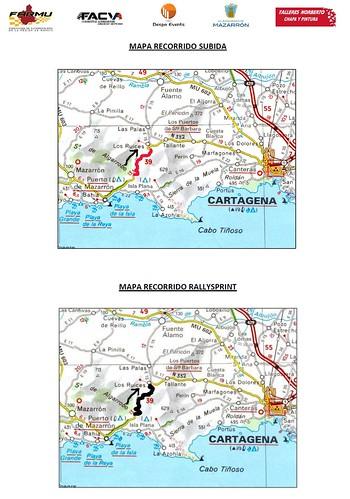Trazada Subida Bahia de Mazarron y Rallye Sprint Costa Calida