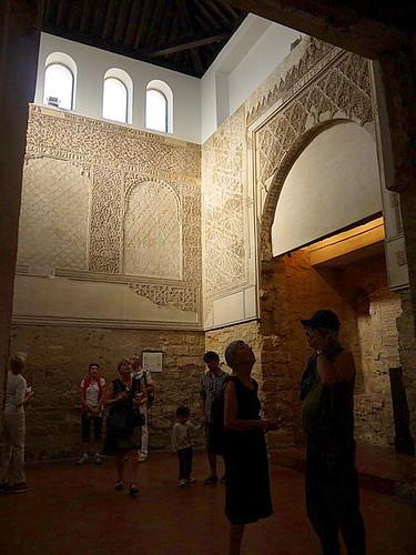 the prayer hall of Cordoba Synagogue
