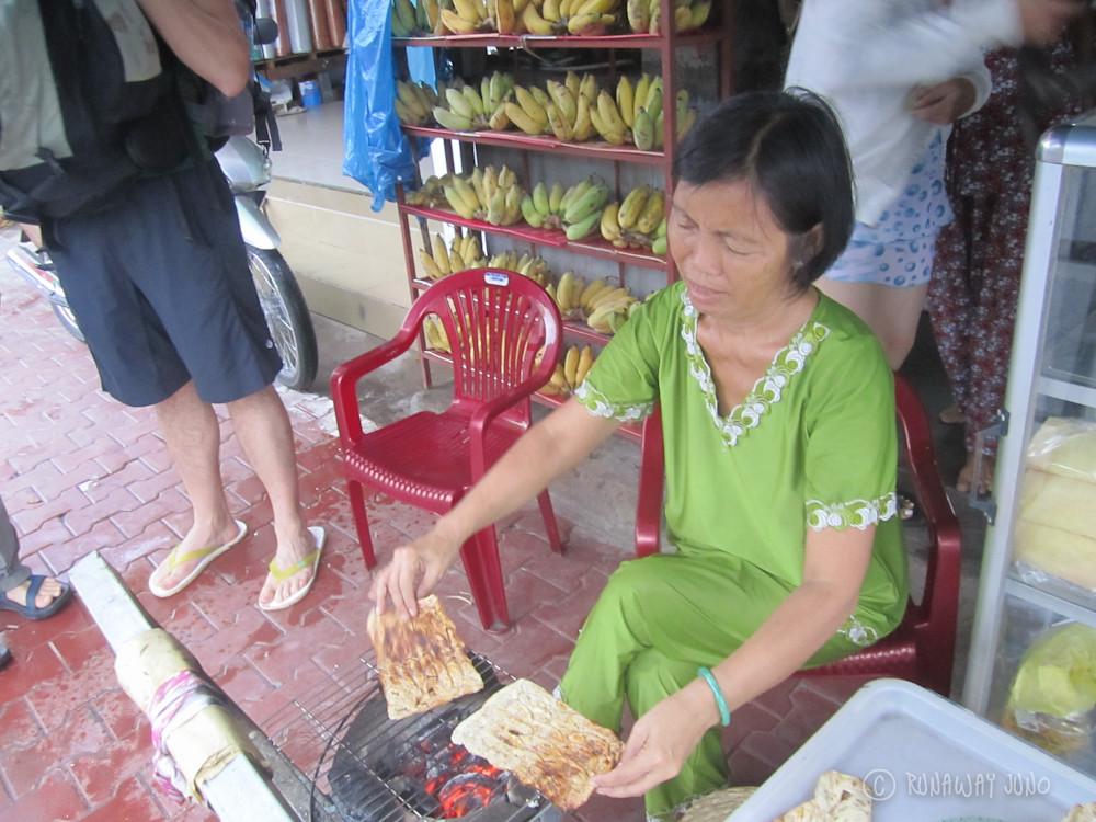 Banana snack vendor