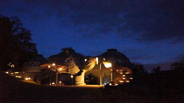 domes at night