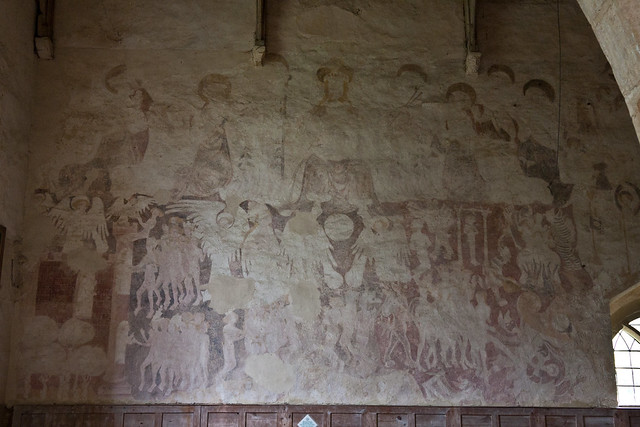 Lower oddington gloucestershire church of st nicholas for Chaldon church mural