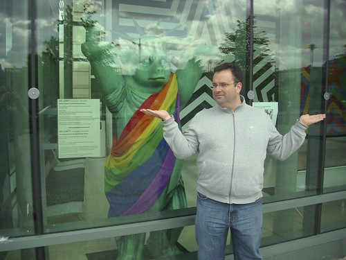 US Liberty Berlin Bear with a Pride Toga!