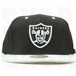 Mitchell Ness Raiders Snapbacks Hats Oakland Caps NFL Logo Black Grey