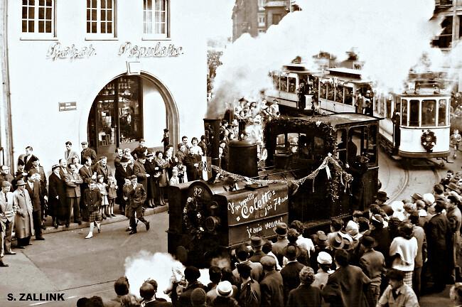 fête de la disparition du tramway à Strasbourg dans la fraîcheur du 1er mai 1960 météopassion