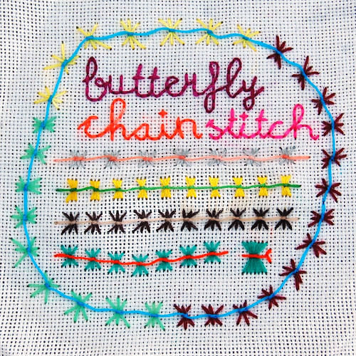tast 2012 #13: butterfly chain stitch