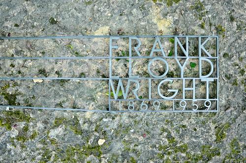 Frank Lloyd Wright's former grave