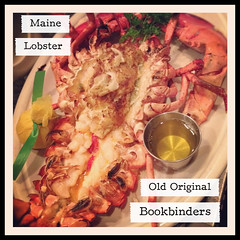 Bookbinders Broiled Maine Lobster stuffed with cra…