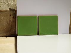 Medium green tiles