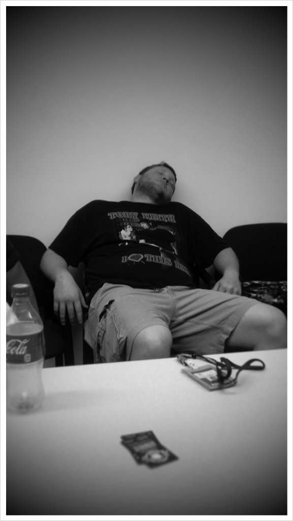 It's been to rough day for Chris. http://picplz.com/z9nr6
